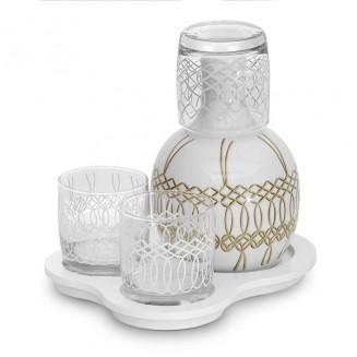 Conjunto de Moringa Clássica base com 3 copos Artesanal Nude